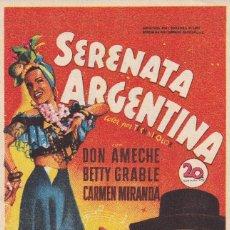 Cine: SERENATA ARGENTINA .- DON AMECHE. Lote 255498160