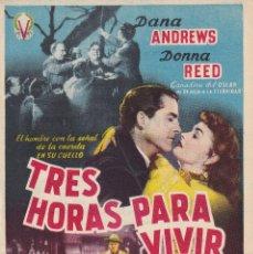 Cine: TRES HORAS PARA VIVIR .- DANA ANDREWS. Lote 255563210