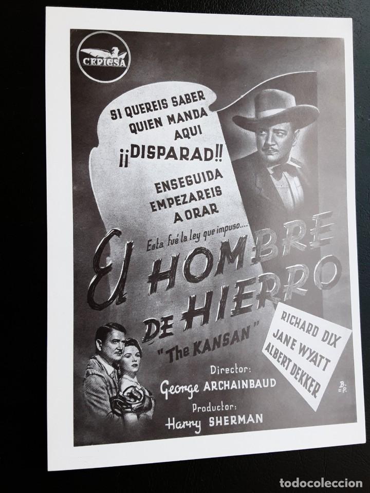 EL HOMBRE DE HIERRO RICHARD DIX IMPRESO EN LOS AÑOS 80 (Cine - Folletos de Mano - Westerns)