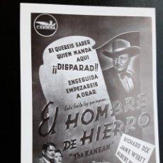 Cine: EL HOMBRE DE HIERRO RICHARD DIX IMPRESO EN LOS AÑOS 80. Lote 255640325
