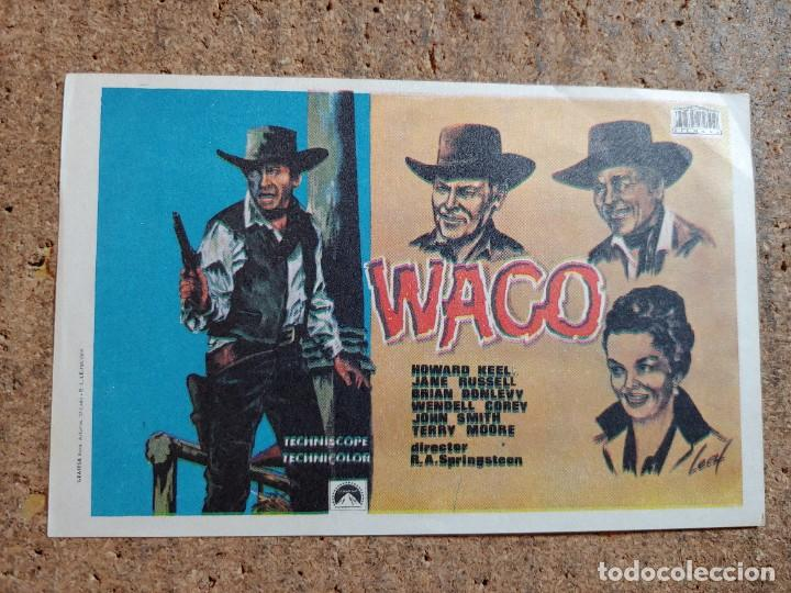 FOLLETO DE MANO DE LA PELICULA WACO (Cine - Folletos de Mano - Westerns)