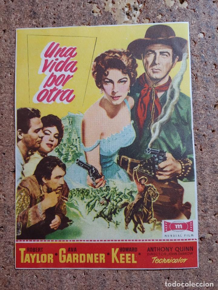 FOLLETO DE MANO DE LA PELICULA UNA VIDA POR OTRA (Cine - Folletos de Mano - Westerns)