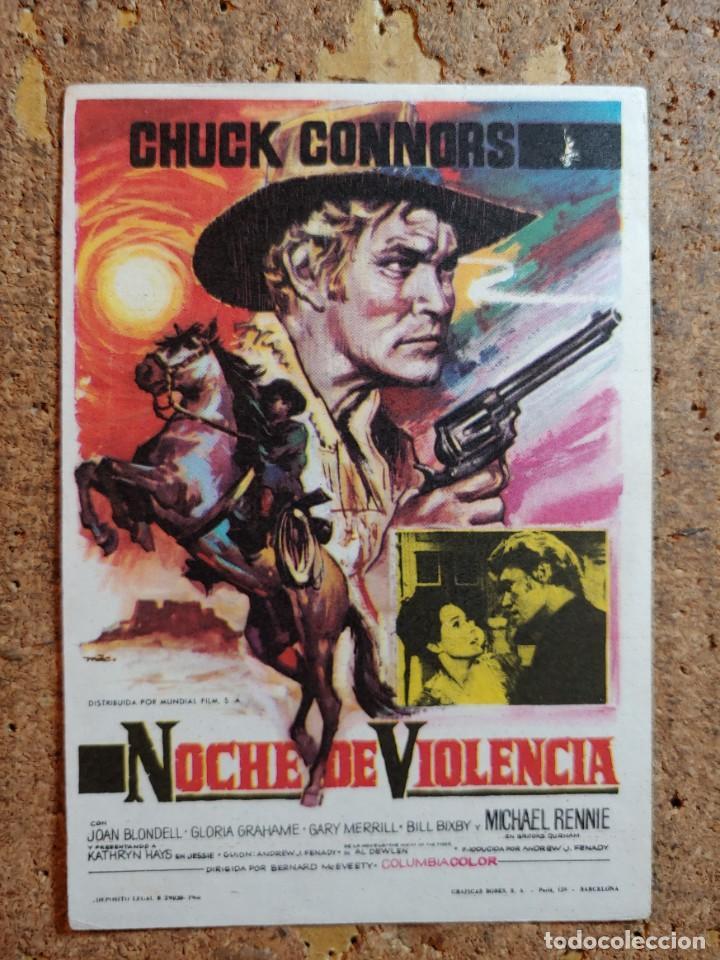FOLLETO DE MANO DE LA PELÍCULA NOCHE DE VIOLENCIA (Cine - Folletos de Mano - Westerns)
