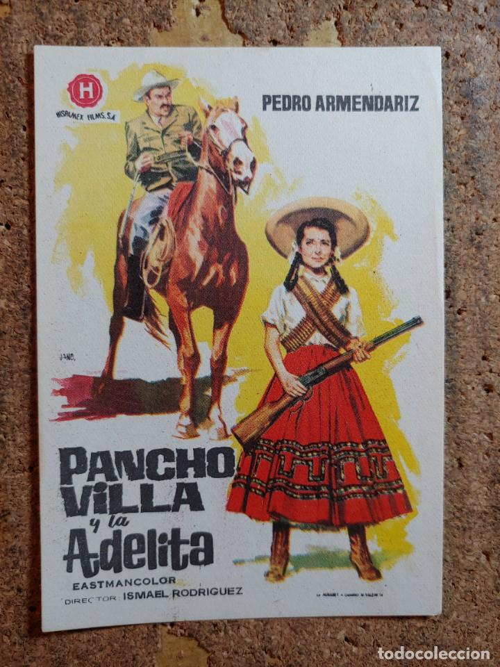 FOLLETO DE MANO DE LA PELÍCULA PANCHO VILLA Y ADELINA (Cine - Folletos de Mano - Westerns)