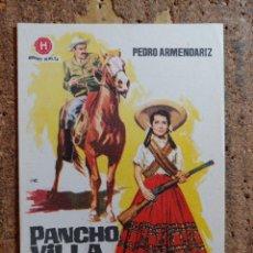 Cine: FOLLETO DE MANO DE LA PELÍCULA PANCHO VILLA Y ADELINA. Lote 255672310