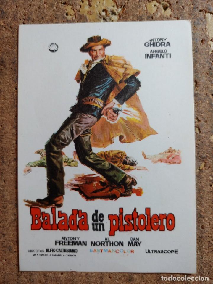 FOLLETO DE MANO DE LA PELICULA BALADA DE UN PISTOLERO (Cine - Folletos de Mano - Westerns)