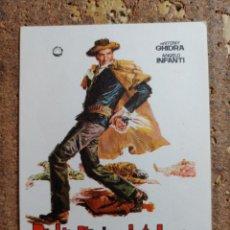 Cine: FOLLETO DE MANO DE LA PELICULA BALADA DE UN PISTOLERO. Lote 256025045