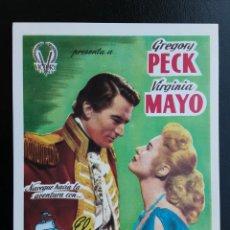 Cine: EL HIDALGO DE LOS MARES GREGORY PECK IMPRESO EN LOS AÑOS 80. Lote 256026645