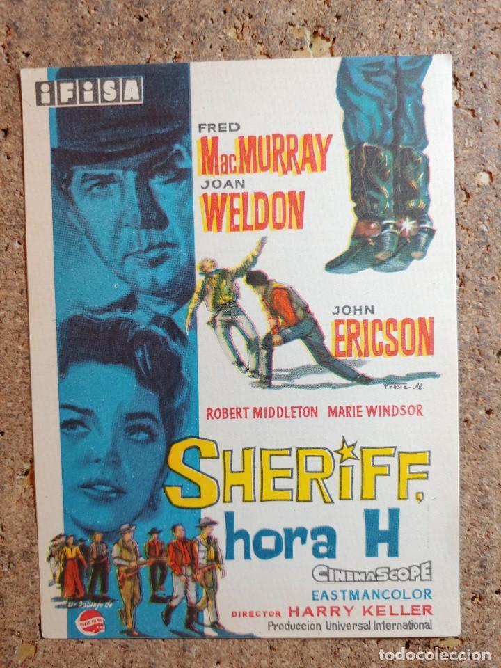 FOLLETO DE MANO DE LA PELICULA SHERIFF HORA H (Cine - Folletos de Mano - Westerns)