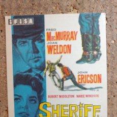 Cine: FOLLETO DE MANO DE LA PELICULA SHERIFF HORA H. Lote 256026845