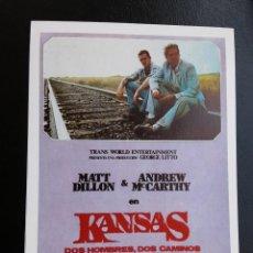 Cine: KANSAS DOS HOMBRES, DOS CAMINOS MATT DILLON IMPRESO EN LOS AÑOS 80. Lote 256028705