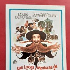 """Cine: LAS LOCAS AVENTURAS DE """"RABBI """" JACOB LOUIS DE FUNES IMPRESO EN LOS AÑOS 80. Lote 256036490"""