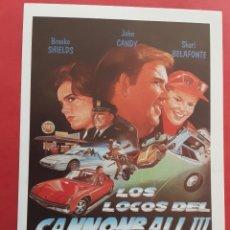 Cine: LOS LOCOS DEL CANNONBALL III BROOKE SHIELDS IMPRESO EN LOS AÑOS 80. Lote 256037145