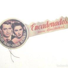 Cine: ENCADENADOS PROGRAMA CINE TROQUELADO DE ALFRED HITCHCOOK, GARY GRANT, INGRID BERGMAN. Lote 257278545
