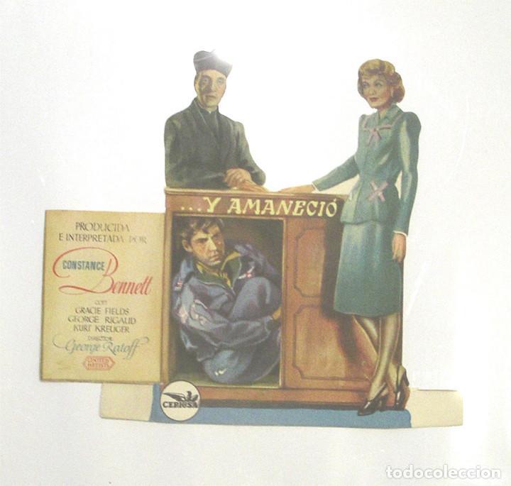 Y AMANECIO PROGRAMA CINE TROQUELADO DE CEPICSA AÑO 1947. (Cine - Folletos de Mano - Comedia)