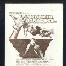 Cine: PROGRAMA DE CINE LOCAL: LA POLICIA AGRADECE. Lote 257300620