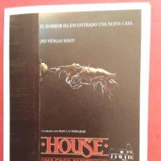 Cine: HOUSE UNA CASA ALUCINANTE WILLIAM KATT IMPRESO EN LOS AÑOS 80. Lote 257313810