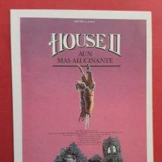 Cine: HOUSE II AÚN MÁS ALUCINANTE ARYE GROSS IMPRESO EN LOS AÑOS 80. Lote 257314490