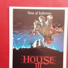 Cine: HOUSE III VETE AL INFIERNO LANCE HENRIKSEN IMPRESO EN LOS AÑOS 80. Lote 257315175