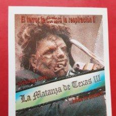 Cine: LA MATANZA DE TEXAS III LEATHERFACE IMPRESO EN LOS AÑOS 80. Lote 257317785