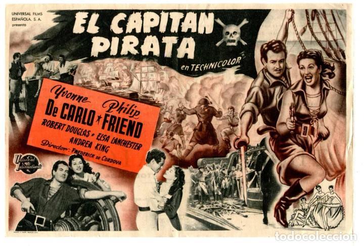 EL CAPITÁN PIRATA, CON YVONNE DE CARLO. (Cine - Folletos de Mano - Aventura)