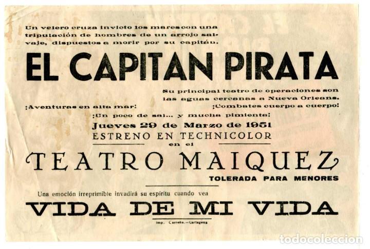 Cine: EL CAPITÁN PIRATA, con Yvonne de Carlo. - Foto 2 - 257388220