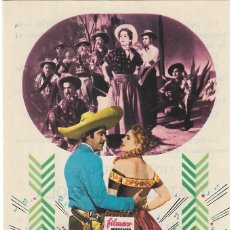 Foglietti di film di film antichi di cinema: PN - PROGRAMA DE CINE - SERENATA EN MÉJICO - LUIS AGUILAR - TEATRO ARGENSOLA (BARBASTRO) - 1956.. Lote 257505365