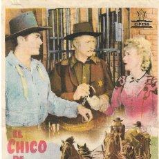 Cine: PROGRAMA DE CINE - EL CHICO DE MICHIGAN - JON HALL - CINE GOYA (MÁLAGA) - 1947.. Lote 257506175