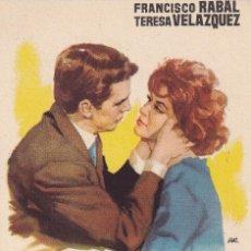 Foglietti di film di film antichi di cinema: AZAHARES ROJOS .- FRANCISCO RABAL. Lote 257530555