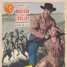 Cine: LA CARGA DE LOS JINETES INDIOS .- GUY MADISON. Lote 257531300