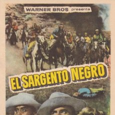 Cine: EL SARGENTO NEGRO .- JEFFREY HUNTER. Lote 257531515