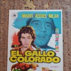 Cine: FOLLETO DE MANO DE LA PELÍCULA EL GALLO COLORAO. Lote 257594270