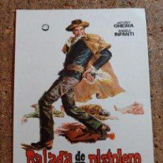 Cine: FOLLETO DE MANO DE LA PELÍCULA BALADA DE UN PISTOLERO. Lote 257595220