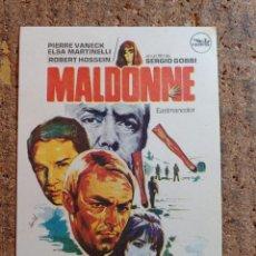 Cine: FOLLETO DE MANO DE LA PELÍCULA MALDONNE. Lote 257599445