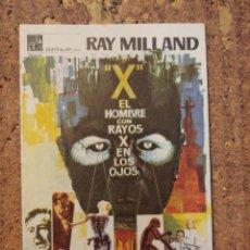 Cine: FOLLETO DE MANO DE LA PELÍCULA EL HOMBRE CON RAYOS X EN LOS HOJOS. Lote 257675935