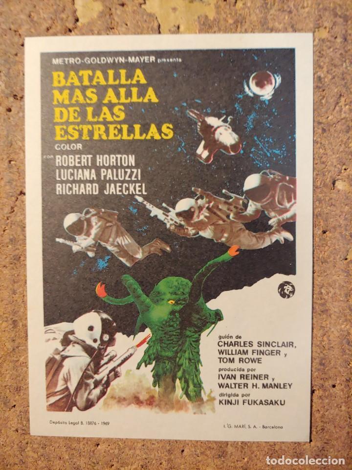FOLLETO DE MANO DE LA PELÍCULA BATALLA MÁS ALLÁ DE LAS ESTRELLAS (Cine - Folletos de Mano - Ciencia Ficción)