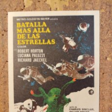 Folhetos de mão de filmes antigos de cinema: FOLLETO DE MANO DE LA PELÍCULA BATALLA MÁS ALLÁ DE LAS ESTRELLAS. Lote 257677260