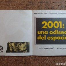 Cine: FOLLETO DE MANO DOBLE DE LA PELICULA 2001 UNA ODISEA DEL ESPACIO. Lote 257690285