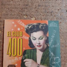 Cine: FOLLETO DE MANO DOBLE DE LA PELICULA EL CLUB 400. Lote 257690615