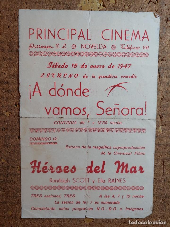 Cine: FOLLETO DE MANO DOBLE DE LA PELICULA HÉROES DEL MAR - Foto 2 - 257695010