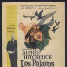 Cine: P-7963- LOS PAJAROS (ALFRED HITCHCOCK'S THE BIRDS) (CINES BOHEMIO Y GALILEO -HOSPITALET) ROD TAYLOR. Lote 257759740