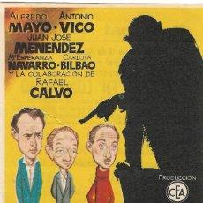 Folhetos de mão de filmes antigos de cinema: PROGRAMA DE CINE - SUSPENSO EN COMUNISMO - ALFREDO MAYO, ANTONIO VICO - JANO - PRINCIPAL CINEMA 1956. Lote 257787700