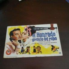 Cine: PROGRAMA DE MANO ORIG - EL HONRADO GREMIO DEL ROBO - CON CINE DE CARMONA IMPRESO AL DORSO. Lote 257859890