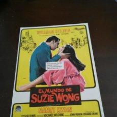 Cine: PROGRAMA DE MANO ORIG - EL MUNDO DE SUZIE WONG - CON CINE DE CARMONA IMPRESO AL DORSO. Lote 257860045