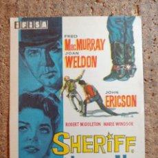 Cine: FOLLETO DE MANO DE LA PELICULA SHERIFF HORA H. Lote 258260050