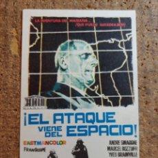 Folhetos de mão de filmes antigos de cinema: FOLLETO DE MANO DE LA PELICULA EL ATAQUE VIENE DEL ESPACIO. Lote 258261260