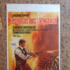 Cine: FOLLETO DE MANO DE LA PELÍCULA LOS LARGOS DIAS DE LA VENGANZA. Lote 258312195