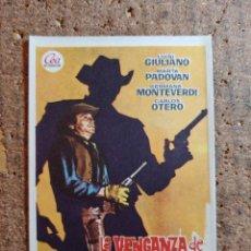 Cine: FOLLETO DE MANO DE LA PELÍCULA LA VENGANZA DE CLARK HARRISON. Lote 258313675