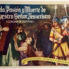 Cine: PROGRAMA DE MANO DE LA PELÍCULA CORONA DE ESPINAS.. Lote 258321135