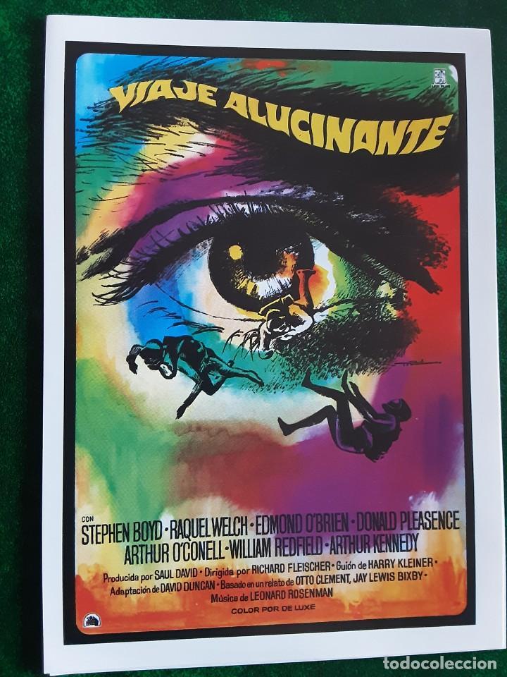 VIAJE ALUCINANTE STEPHEN BOYD RAQUEL WELCH IMPRESO EN LOS AÑOS 80 (Cine - Folletos de Mano - Ciencia Ficción)